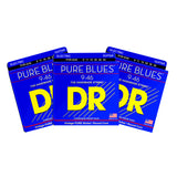 3 Sets DR Strings PHR-9/46 Pure Blues Light Medium 9-46 Electric Guitar Strings