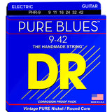 3 Sets DR Strings PHR-9 Pure Blues Light 9-42 Electric Guitar Strings