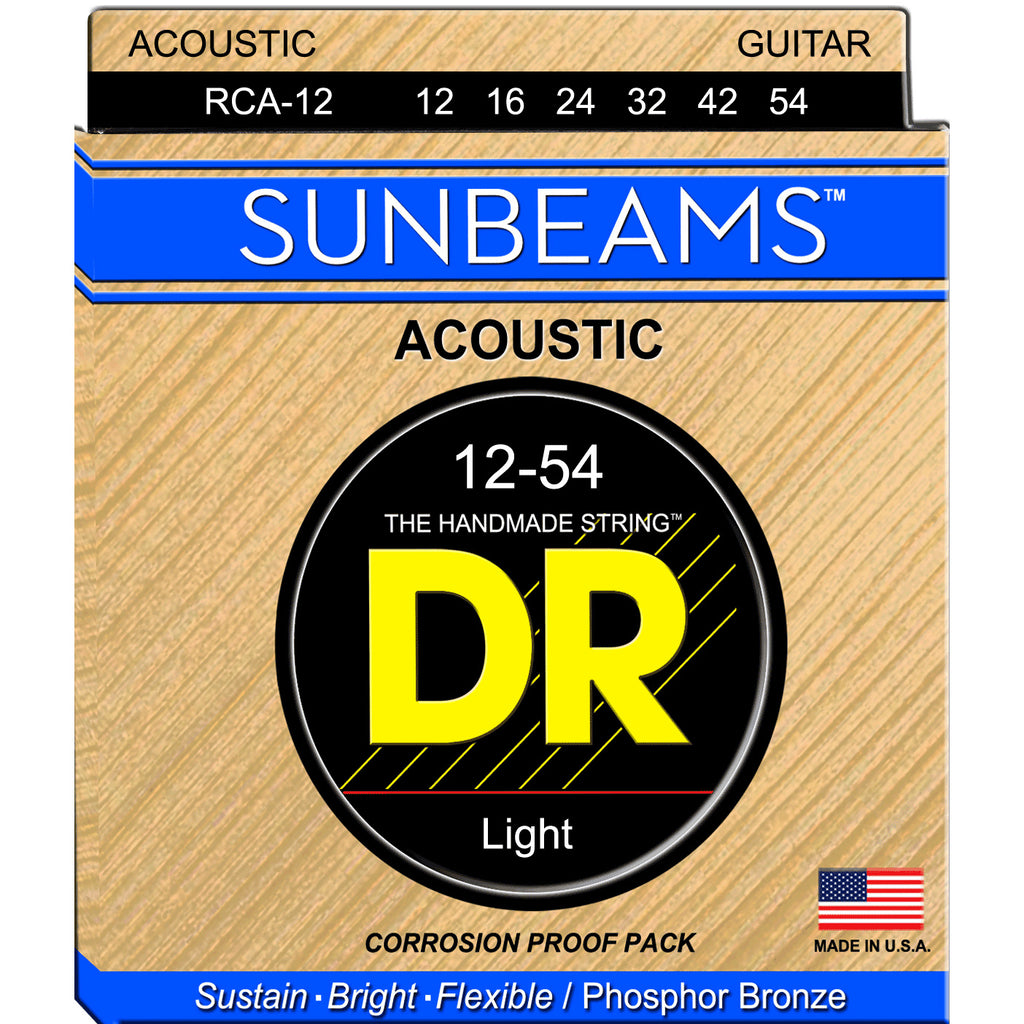 DR Strings RCA-12 Sunbeam Light 12-54 Phosphor Bronze Acoustic