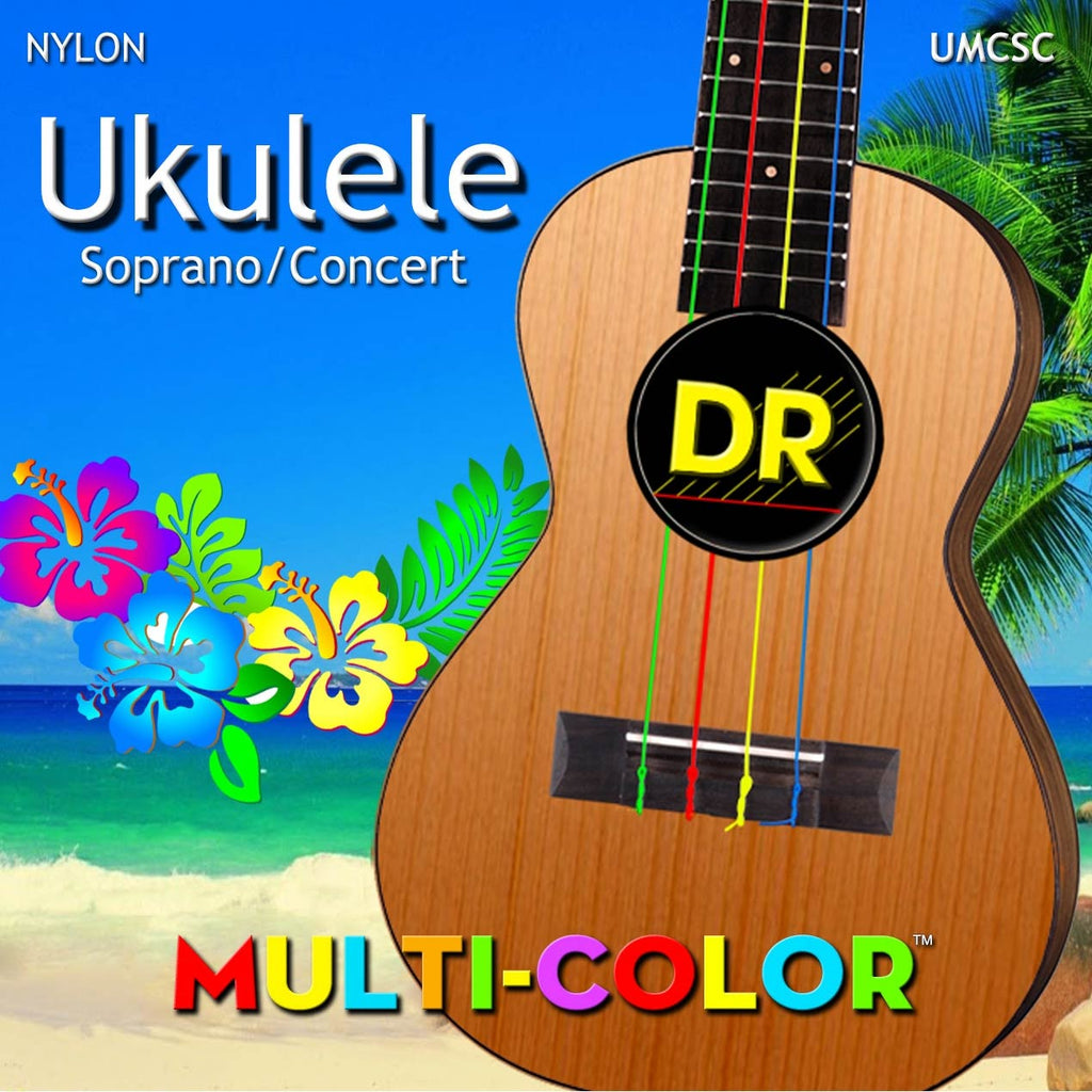 DR Strings UMC-SC Multicolor Soprano Concert Ukulele Strings