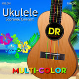 3 Sets DR Strings UMC-SC Multicolor Soprano Concert Ukulele Strings