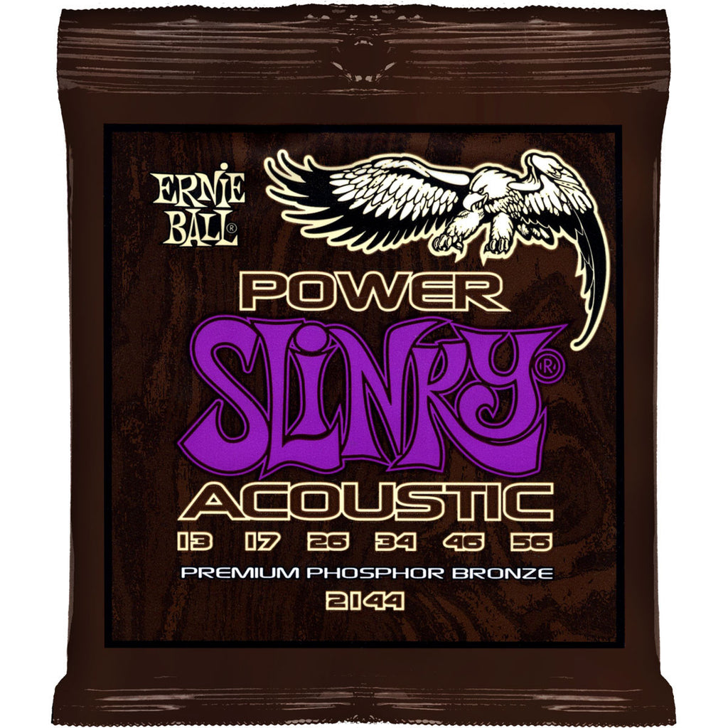 Ernie Ball 2144 Power Slinky Phosphor Bronze Medium 13-56 Acoustic Guitar Strings