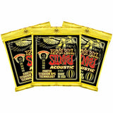 3 Sets Ernie Ball 2154 Coated Titanium RPS Slinky Medium 13-56 Acoustic Strings