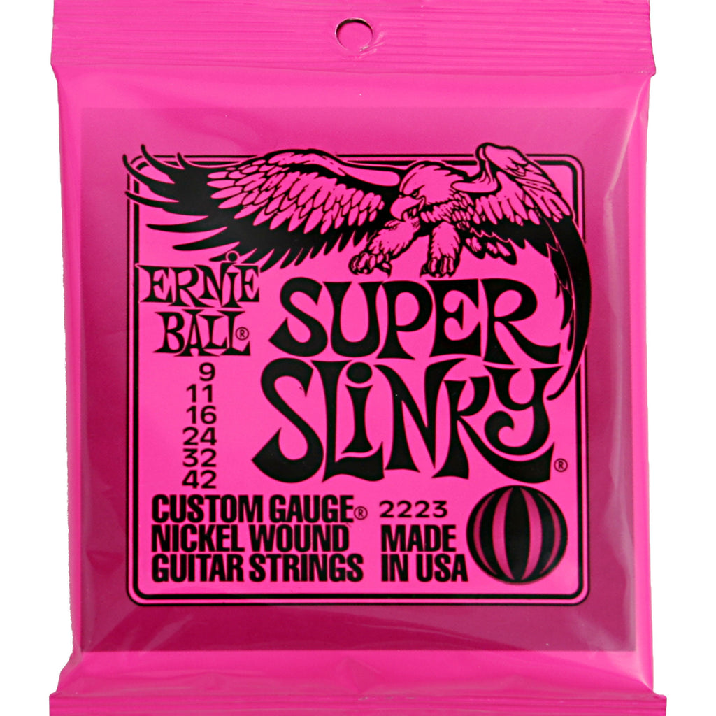 Ernie Ball 2223 Super Slinky 9-42 Nickel Wound Electric Guitar Strings