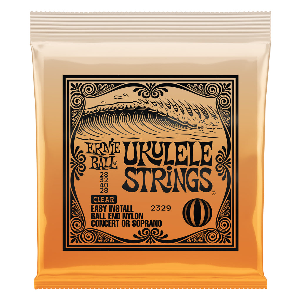 Ernie Ball 2329 Clear Ball End Nylon Concert/Soprano Ukulele Strings
