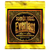 3 Sets Ernie Ball 2556 Coated 80/20 Bronze Slinky Medium Light 12-54 Acoustic Strings