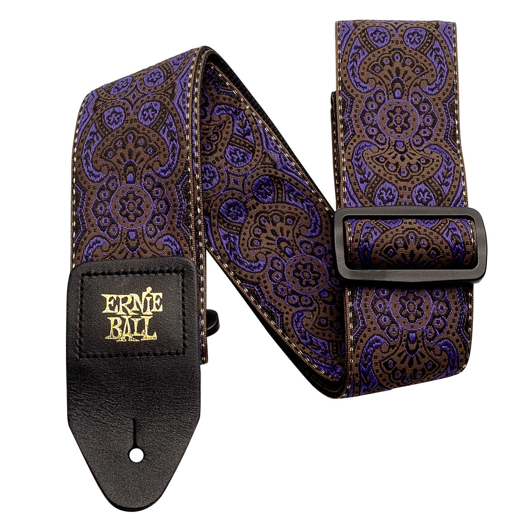 Ernie Ball 4164 Purple Paisley Jacquard Guitar Strap