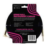 Ernie Ball 6081 10' Braided Black Straight to RA Instrument Cable