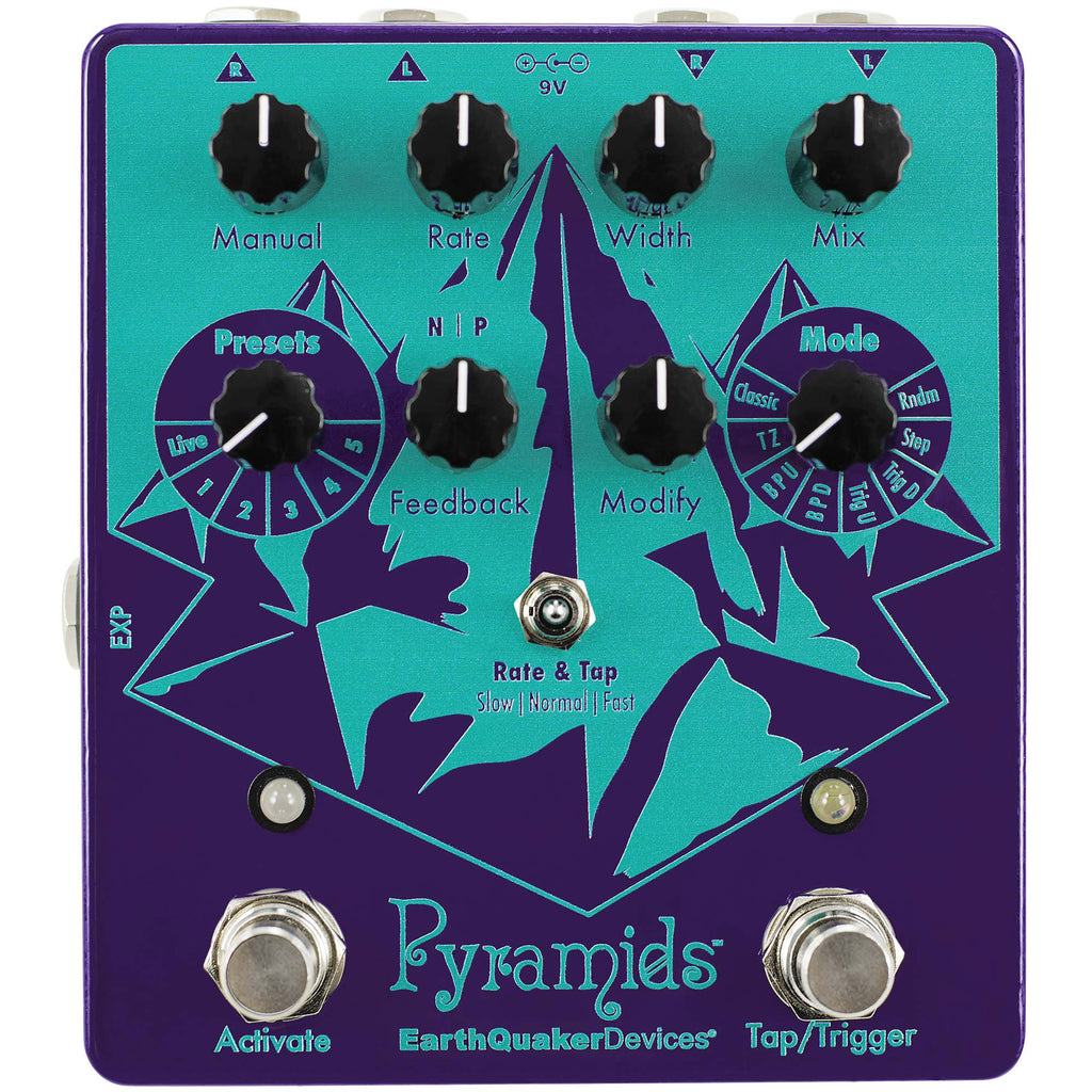 Earthquaker Devices Pyramids Stereo Flanging Device - 8 Modes, 5 User Presets