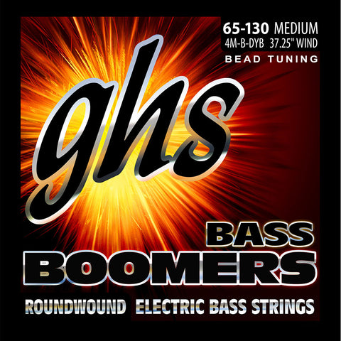 "GHS 4M-B-DYB Bead Tuned Medium 65-130 Boomers (37.25"" winding)"