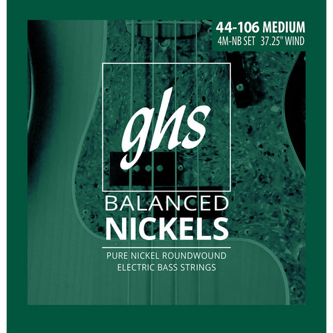 GHS 4M-NB Balanced Nickel Medium 44-106 Bass Strings