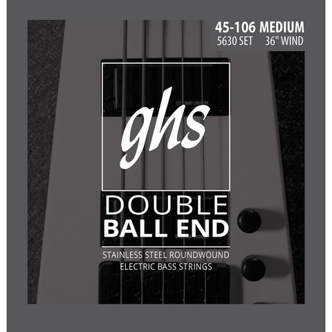 GHS 5630 Roundwound Double Ball End Medium 45-106 Bass Strings