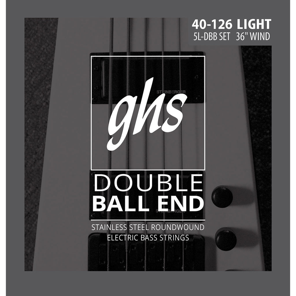GHS 5L-DBB Roundwound Double Ball End Light 40-126 Bass Strings