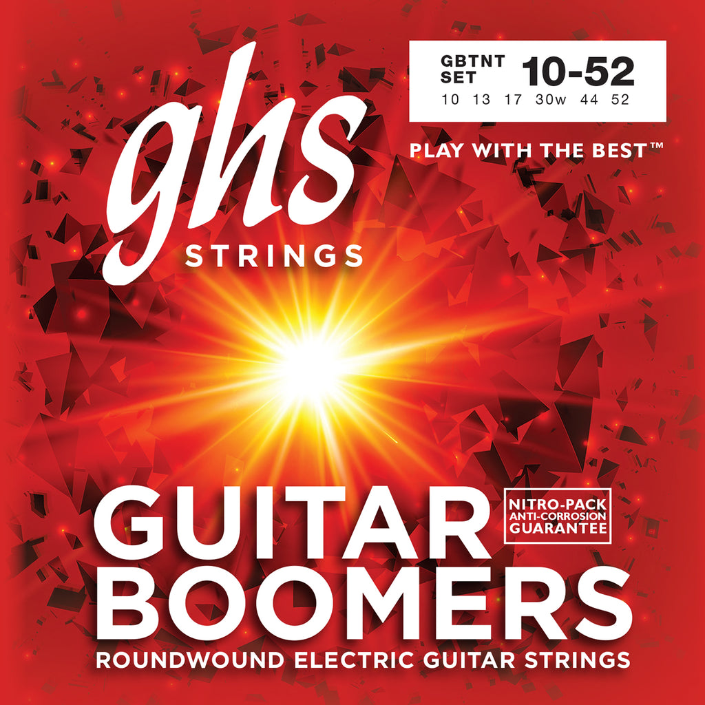 GHS GBTNT Boomers Thin/Thick 10-52 Nickel-Plated Roundwound Electric Guitar Strings