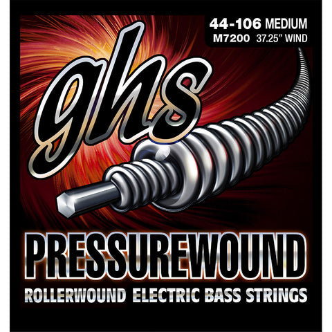 GHS Bass Pressurewound M7200 Medium (44-106) Strings