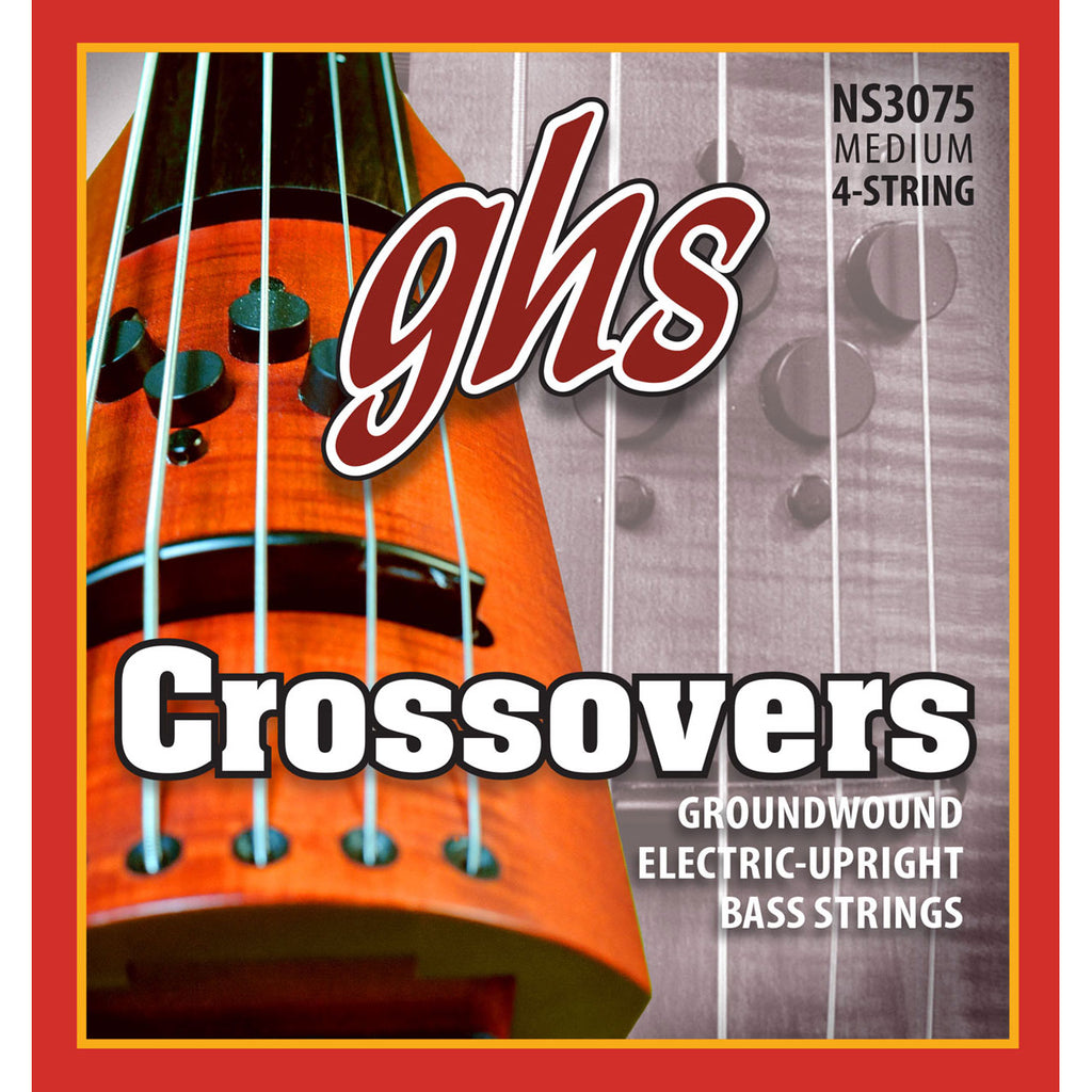 GHS NS3075 Crossovers Medium Groundwound Electric Upright Bass Strings