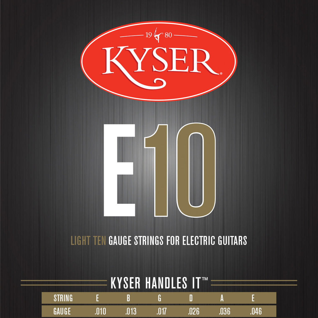 Kyser E10 Light, 10-46, Nickel Plated Electric Guitar Strings
