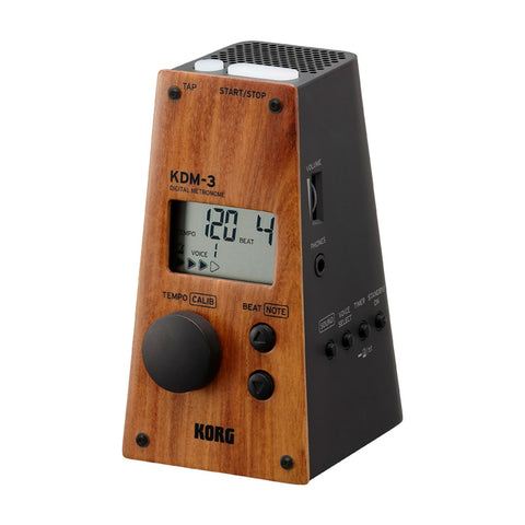 Korg KDM-3 Limited Edition Wood and Black Finish Digital Metronome