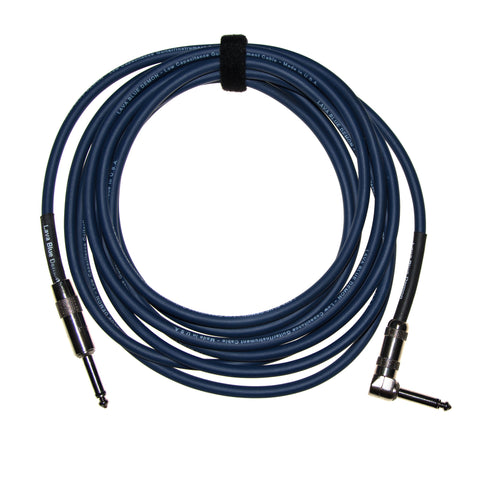 "Lava Cable LCBD15R 15' Blue Demon 1/4"" Straight End To 1/4"" RA End"