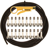 Lava Solder Free Mini ELC 20 Plug & 20' Black Cable Pedalboard Kit