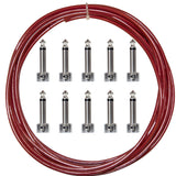 Lava Cable Piston Solder-Free RA Cherry Red Cable Pedalboard Kit (LCPTKTR-RD)