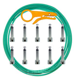 Lava Solder Free 10+10 Green Tightrope Pedalboard Kit - 10' Cable, 10 RA Plugs