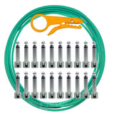 Lava Solder Free 10+20 Green Tightrope Pedalboard Kit - 10' Cable, 20 RA Plugs