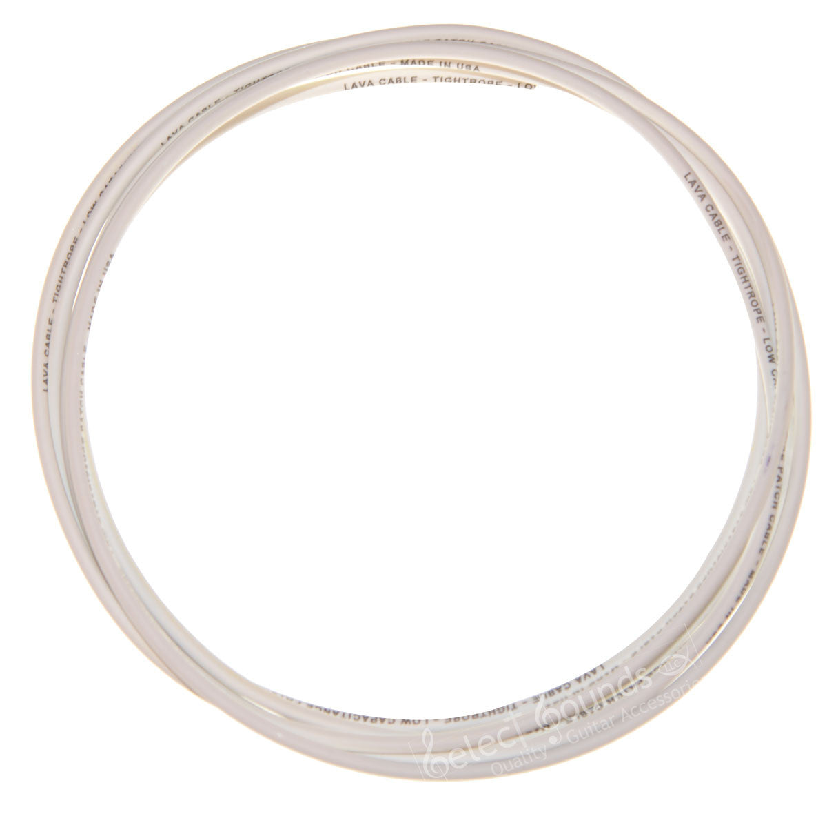 Lava Cable White Tightrope Cable, Sold By The Foot, For Tightrope Plugs