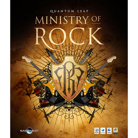 EastWest Ministry Of Rock - 20GB of Virtual Drum, Bass, Guitar Sound