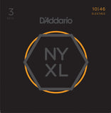 D'Addario NYXL 10-46 3 Pack Nickel Wound, Regular Light