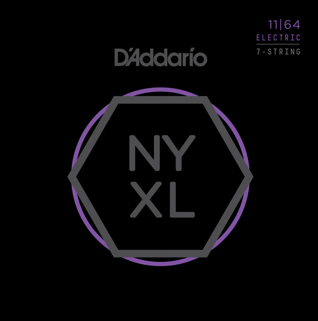 D'Addario NYXL 1164 Nickel Wound 7-String Medium 11-64 Electric Guitar Strings