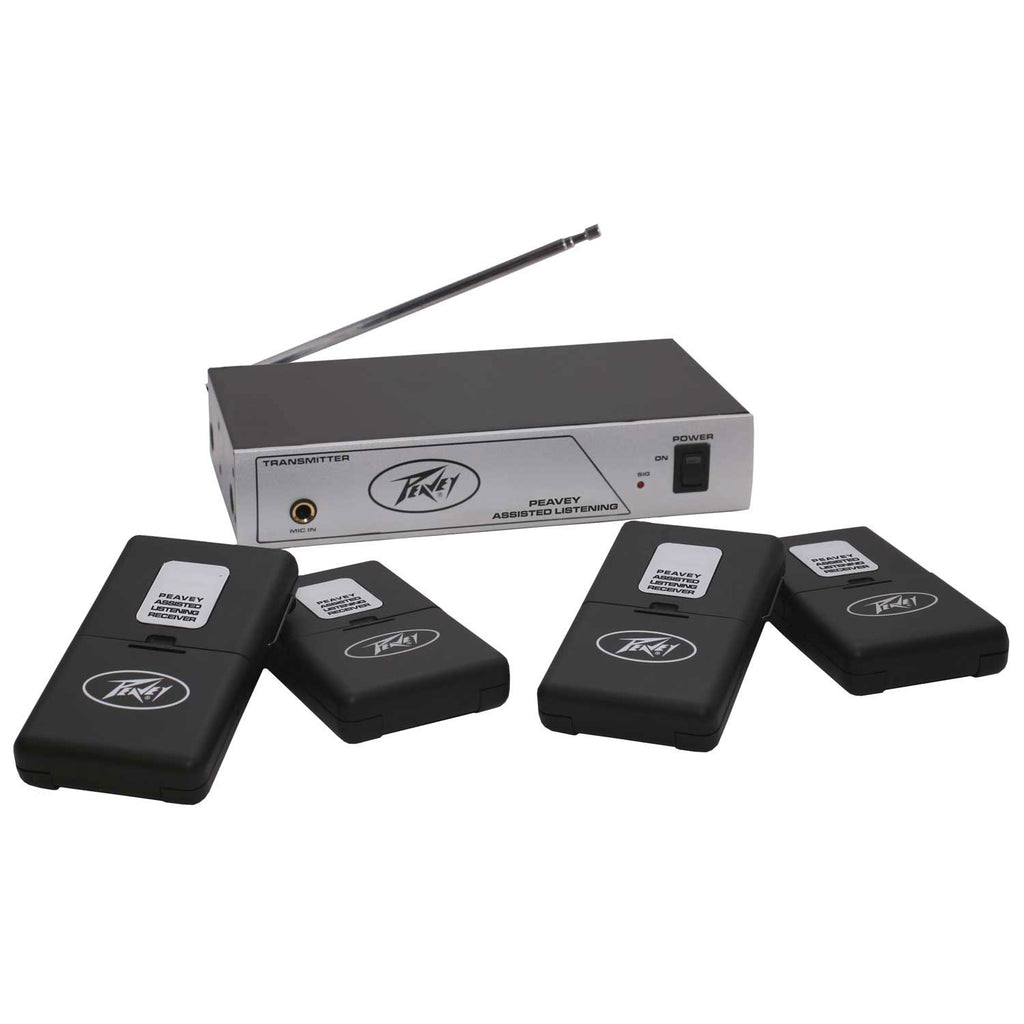 Peavey Assisted Listening System w/Four Receivers 72.1 MHz #03010620