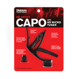 Planet Waves Black NS Artist Capo Plus NS Micro Headstock Tuner (PW-CP-10NSM)