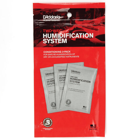 D'Addario PW-HPCP-03 Two-Way Humidification Conditioning Packets, 3 Packets
