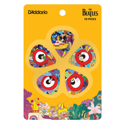Yellow Submarine 50th Anniversary 10 Guitar Picks Set - Heavy