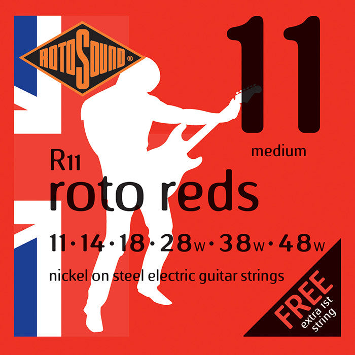 Rotosound R11 Roto Reds Medium 11-48 Electric Guitar Strings