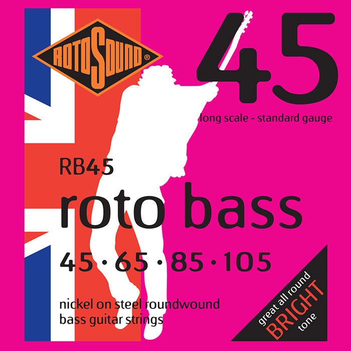 Rotosound RB45 Rotobass 45-105 Long Scale Standard Gauge Bass Strings