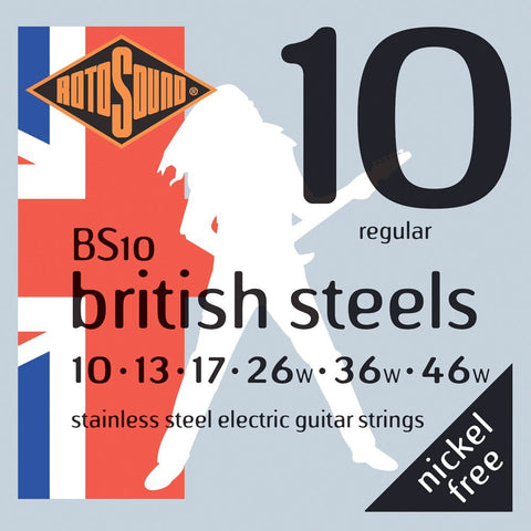 Rotosound BS10 British Steel Regular 10-46 Classic Electric Guitar Strings