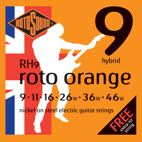Rotosound RH9 Roto Orange Hybrid 9-46 Electric Guitar Strings