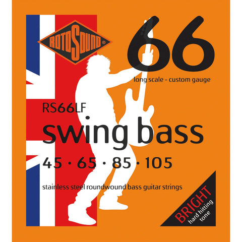 Rotosound RS66LF Custom 45-105 Stainless Steel Swing Bass Bass Guitar Strings