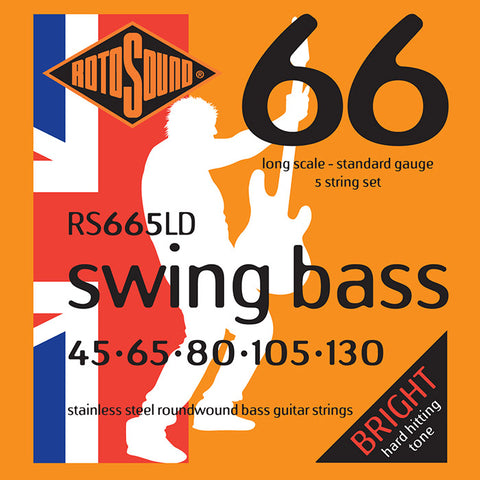 Rotosound RS665LD 45-130 5-String Stainless Steel Swing Long Scale Guitar Strings