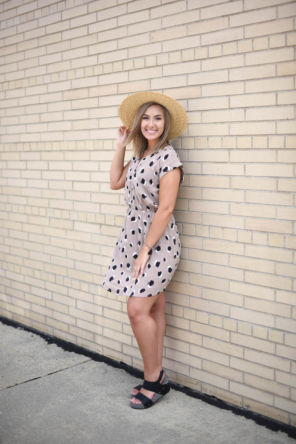 Follow Along Leopard Dress