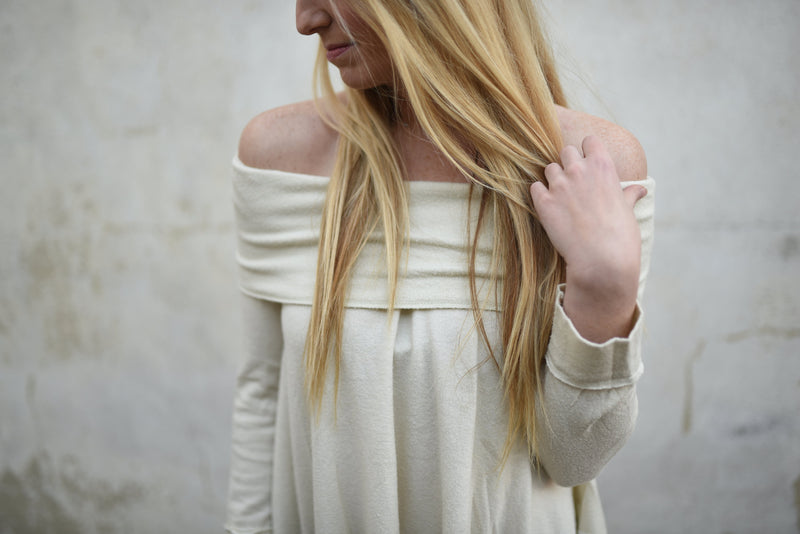 Winter White Cowl Neck