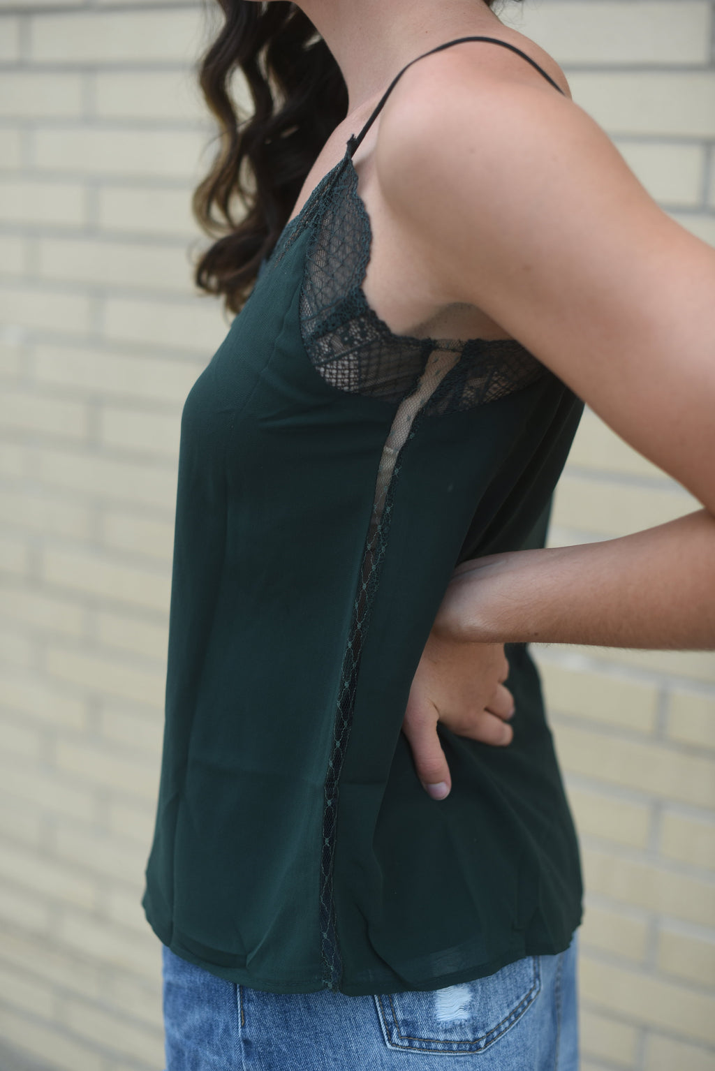 Lovely Lacey Tank - Green