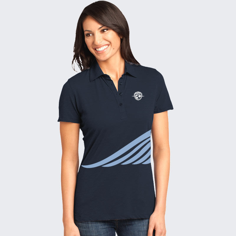 Ubuntu New Era... Polo Women's - Deep Sea Blue