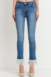 Alex Ankle Fray Jeans - High Waist