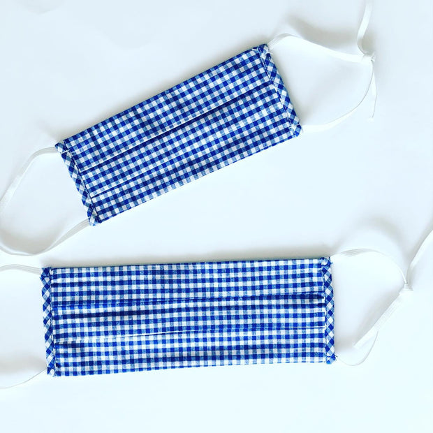 Reusable Face Mask - Blue Gingham [ CHILD SIZE ]