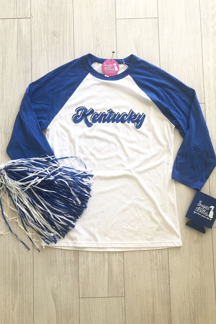 Retro Kentucky Raglan - White