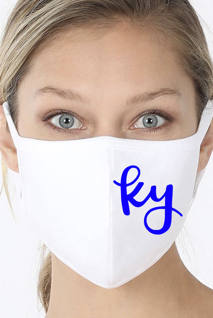 [ GAMEDAY ] Reusable Cotton Face Mask - White - Ky Script