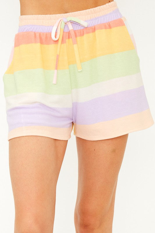 Luna Lounge Shorts - Stripe - FINAL SALE